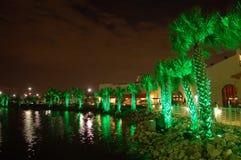zielone światło dłonie fotografia royalty free