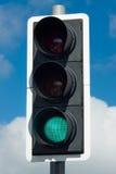 zielone światło lotniskowy strzałkowaty symbol Zdjęcie Royalty Free