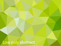 Zielone Światło mozaiki Poligonalny tło Obrazy Stock