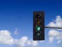 zielone światło ruchu fotografia stock