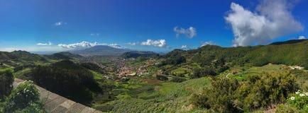 Zielone Anaga góry lekkie cień target4133_0_ Tenerife Fotografia Royalty Free