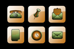 zielone biznes ikony Obraz Royalty Free