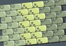 Zielone cegły Fotografia Royalty Free