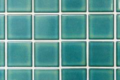 Zielone ceramiczne płytki Obraz Royalty Free