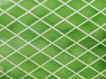 Zielone ceramiczne płytki Obraz Stock