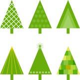 Zielone choinek ilustracje Zdjęcie Stock