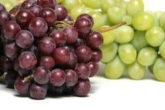 zielone czerwonych winogron Zdjęcie Stock