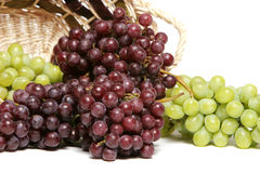 zielone czerwonych winogron Obrazy Stock