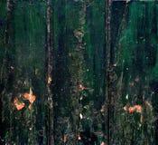 Zielone drewniane deski Obraz Stock