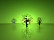 zielone drzewa Royalty Ilustracja