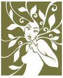 Zielone dziewczyny ilustracja wektor