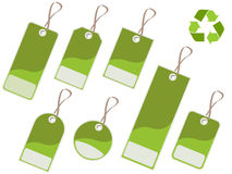 zielone etykietki Fotografia Royalty Free
