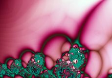 zielone fractal abstrakcyjnych tła różowy Fotografia Royalty Free