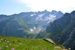 Zielone góry, niebo Obraz Royalty Free