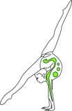 zielone gimnastyki Fotografia Stock
