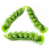 zielone groszki trójkąt Zdjęcie Royalty Free