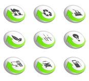 zielone idą ikony ilustracji