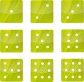 zielone ikony Zdjęcie Stock