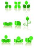 zielone ikony Zdjęcia Stock