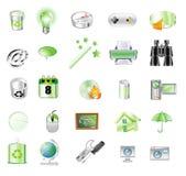 zielone ikony Zdjęcia Royalty Free