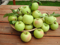 zielone jabłka Zdjęcia Royalty Free