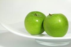 zielone jabłka dwa Fotografia Stock