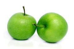 zielone jabłka dwa Fotografia Royalty Free