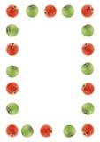 zielone jabłka granice czerwony Zdjęcie Stock