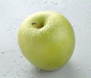 - zielone jabłka mokra Obraz Stock