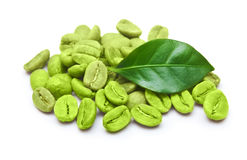 Zielone kawowe fasole Zdjęcia Royalty Free