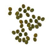 Zielone kawowe realistyczne fasole odizolowywać na białym tle wektor Obrazy Stock
