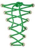 zielone koronki Zdjęcie Stock