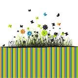 zielone lata trawy tło Obraz Royalty Free