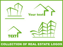 zielone logo Obrazy Royalty Free
