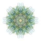 zielone mandala pojedynczy white Zdjęcia Stock