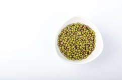 Zielone Mung fasole w pucharze Obrazy Stock