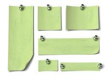 zielone notatki fotografia royalty free