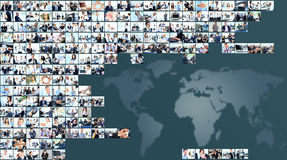 6 zielone obrazów interesu kolaż ton Zdjęcia Stock