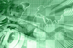 6 zielone obrazów interesu kolaż ton Obraz Stock