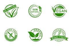 Zielone odznaki ilustracja wektor