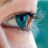 zielone oko dziewczyny s young Zdjęcie Stock