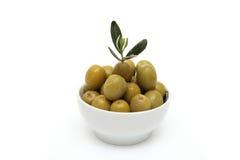 zielone oliwki Zdjęcie Royalty Free