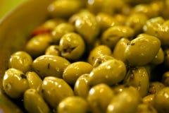Zielone oliwki fotografia royalty free