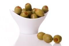 zielone oliwki Obraz Royalty Free