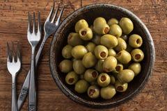 zielone oliwki Fotografia Stock