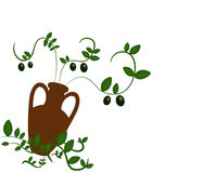 Zielone oliwki ilustrować Obrazy Stock