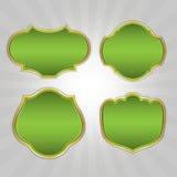Zielone Ozdobne Retro ramy Zdjęcie Stock