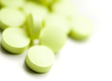 zielone pigułki Zdjęcia Stock