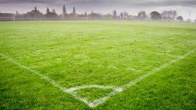 zielone pola trawy tła futbolowa konsystencja Zdjęcie Royalty Free
