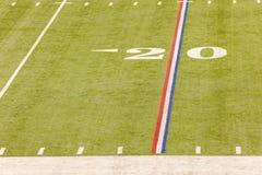 zielone pola trawy tła futbolowa konsystencja Obrazy Stock